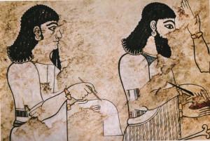 Fresko aus Tell Ahmar